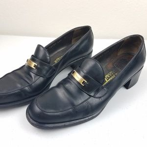 SALVATORE FERRAGAMO Sport Black Leather Loafers